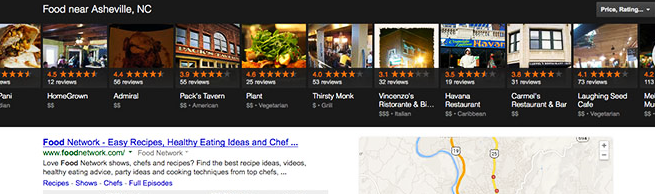 Google Local Results Carousel