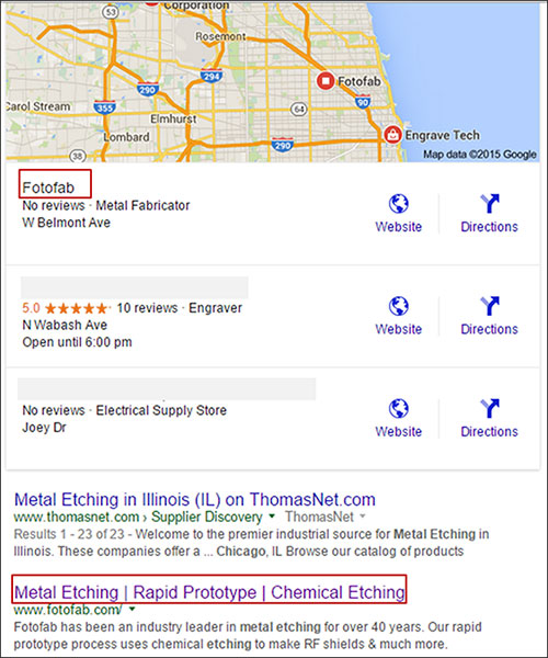 metal machining chicago il google local
