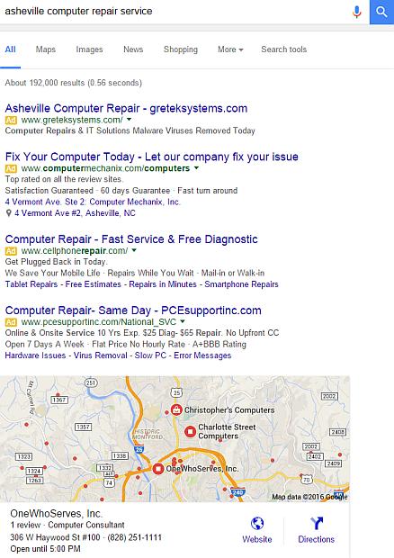 Screen Cap Google SERP